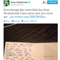 Tweet Sweeper: Amy Huberman got an adorable Christmas card from a kid