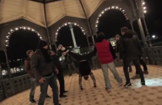 Insane break-dancer dances with fireworks attached to his feet