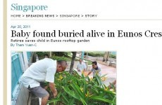 Baby found buried alive in a rooftop garden in Singapore