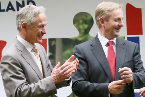 Minister Richard Burton and Taoiseach Enda Kenny.