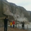Watch: English cliff falls into the sea during rough weather