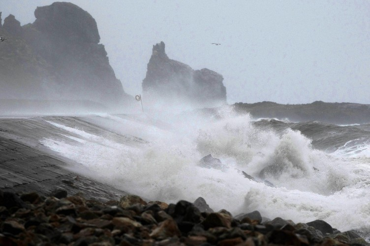 High waves batter Howth Harbour in Dublin over the last week.