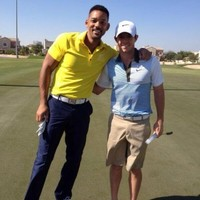 Will Smith drops in on Rory McIlroy's pre-season training in Dubai