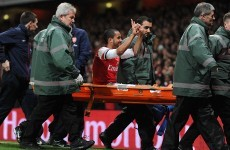 Walcott to miss World Cup after rupturing knee ligaments