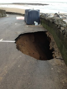 We thought that earlier pothole was big but then we saw this one...
