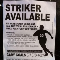 'Top class' striker wants to play for your team, puts up hilarious flyers