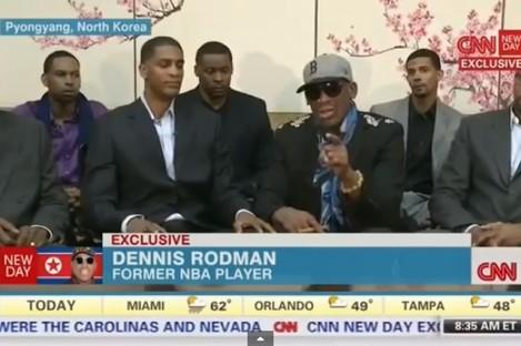 Rodman on CNN today.