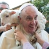 Photo: Here's Pope Francis with a baby sheep around his neck