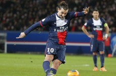 Zlatan scored a hat-trick for Paris Saint-Germain tonight to start 2014 in style