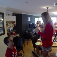 Aussie man uses his girlfriend's entire family in heartwarming sneak proposal