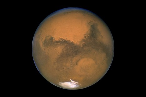 Image of Mars taken by the Hubble Space Telescope