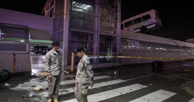 St Louis airport closed 'indefinitely' after tornado destruction
