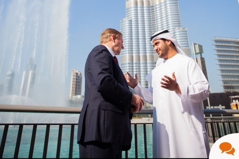 Taoiseach Enda Kenny in Dubai during this week's trade mission.