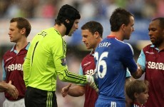 WATCH: Wayne Bridge not shaking John Terry's hand, again