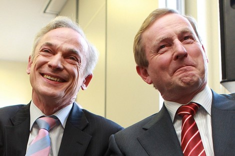 """Richard Bruton (L) has been accused of being """"clueless"""" about how to create jobs."""