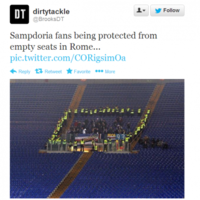 Police were a little overly protective of these Sampdoria fans the other night