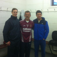 Cushendall's biggest fan Chris Hadfield hangs out with Antrim hurlers