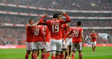 Benfica paid tribute to Eusebio last night by putting his name on the back of all their players' jerseys