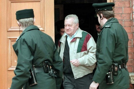 Brendan Smyth leaves Limavady Courthouse in 1997 after being extradited to the Republic, after serving a three-year sentence for sexually abusing 69 children.