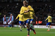 Two quick-fire goals enough for Gunners at Villa Park