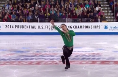 American figure skater performs Riverdance on ice at national championships