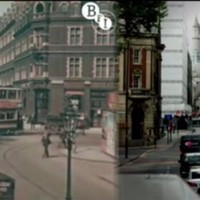Spot the difference? Stunning footage of 1920s London vs modern day