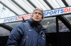 Pellegrini challenges City to chase quadruple