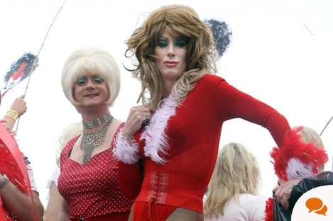 Members of Dublin's gay, lesbian, transgendered and transexual community march through the city centre during the annual Gay Pride parade in 2006