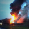 Traffic slow on Cork motorway after bus catches fire