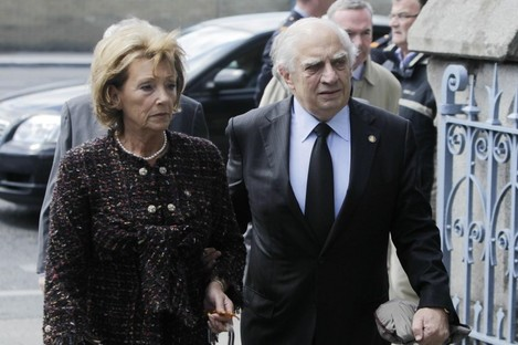 Peter Sutherland at the former Taoiseach's funeral in May 2011.