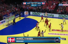 Wait till you see the spin on this goal from the European Handball Championships