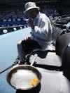Yes, it's hot enough to fry eggs courtside at the Australian Open