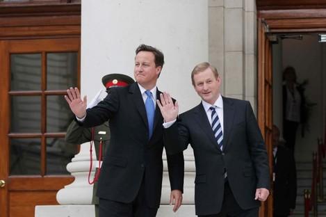 David Cameron and Enda Kenny at Government Buildings.