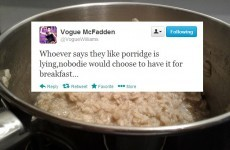 Tweet Sweeper: Vogue McFadden gets real about the porridge myth