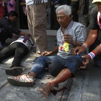 Dozens wounded in explosion at Bangkok protest march
