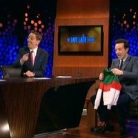Sherlock's Moriarty gets a Flahavan's tracksuit on The Late Late Show
