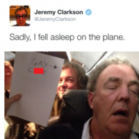 "Jeremy Clarkson apologises after posting ""gay c*nt"" photo"