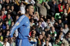 Cristiano Ronaldo scores an absolute scorcher as Real go joint top