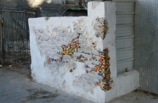 Lego being used to patch holes in walls around the world