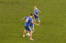 John Terry gets nutmegged by his son Georgie after Man Utd win