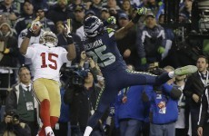 Seahawks match-winner Richard Sherman didn't hold back on the trash talk afterwards