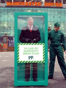 'In case of emergency, break glass' -- Paddy Power trolls United fans with Ferguson model