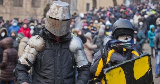 Hundreds wounded as police and protesters clash in freezing temperatures in Ukraine
