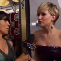 Jennifer Lawrence freaks out after learning Homeland spoiler on the red carpet