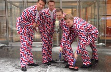 Norway's curling team aiming to cause a stir in Sochi with funky trousers