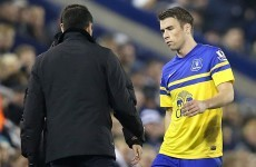 Coleman suffers 'minor soft tissue injury', Everton confirm