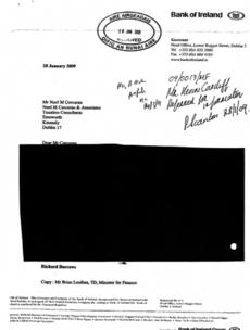Noonan may ask Bank of Ireland for missing bank guarantee documents