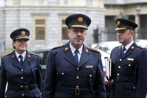 Martin Callinan arriving at Leinster House this morning