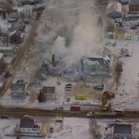 Thirty people still missing hours after fire at home for the elderly