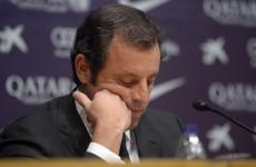 Barca president Sandro Rosell resigns over Neymar affair